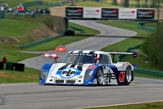 Randy drives the #40 Preformed Line Products Daytona Prototype at the scenic Virginia International Raceway
