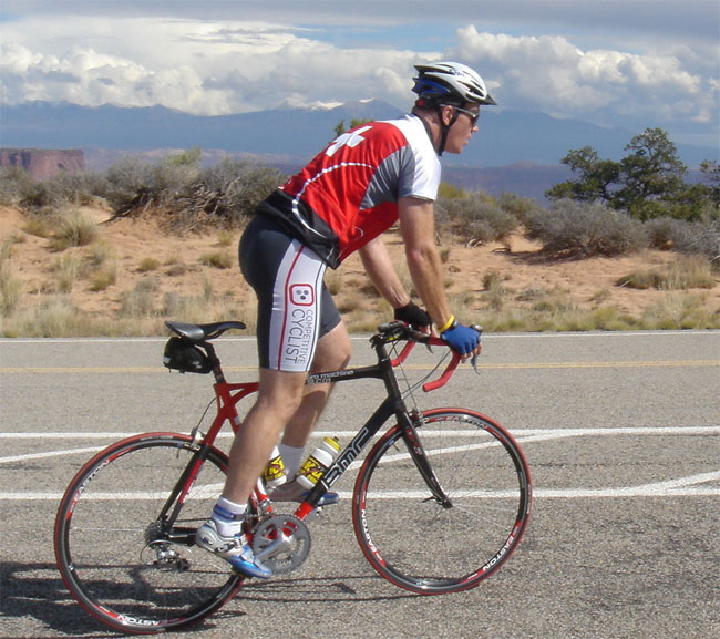 Randy rides bike for Lance Armstrong Foundation at Moab Century Tour